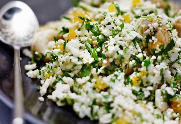 Cous cous di cavolfiore e verdure al curry