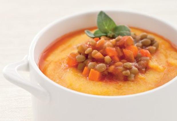 Polenta con ragù di lenticchie