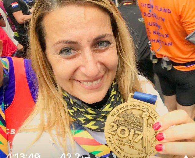 Una cliente Ego Wellness alla maratona di New York