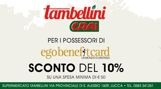 immagine sponsor supermercati CRAI Tambellini Lucca