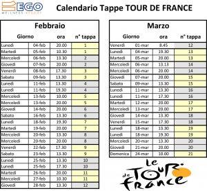 Calendario Ego Tour De France