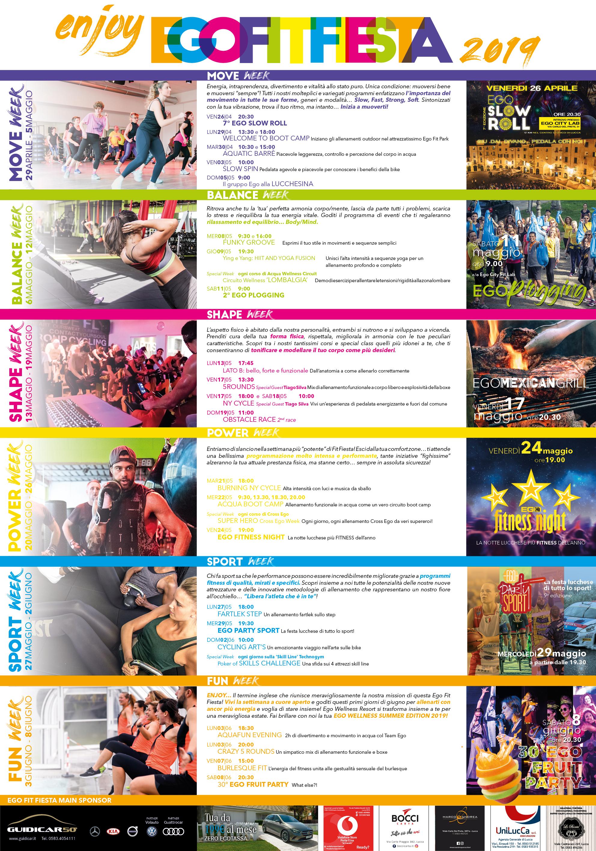 Calendario Fit.Il Calendario Di Ego Fit Fiesta 2019 Egowellness